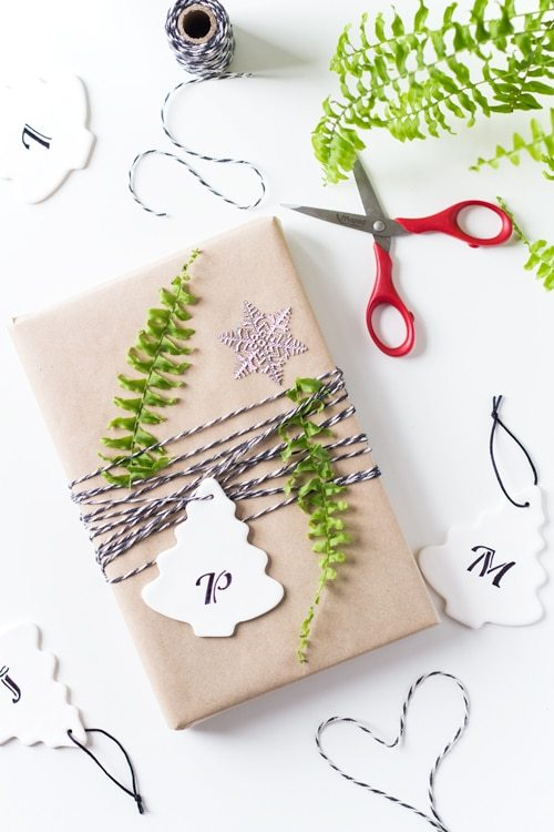 DIY clay Christmas gift tags (via greenhealthycooking.com)