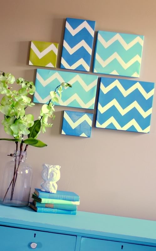 DIY chevron shoebox wall art (via www.shelterness.com)