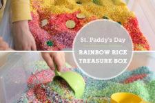 DIY rainbow treasure box