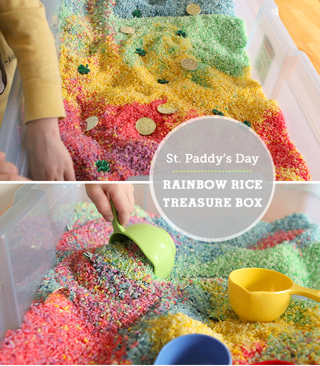 DIY rainbow treasure box