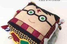 DIY Harry Potter baby activity cube