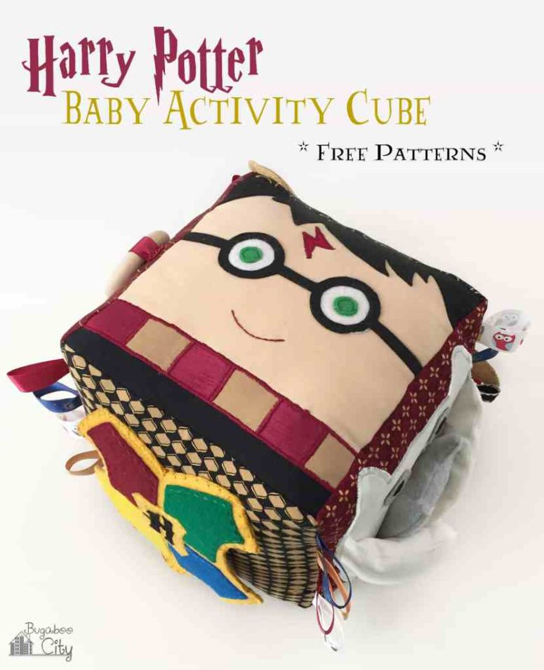 DIY Harry Potter baby activity cube (via www.bugaboocity.com)
