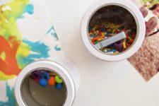 DIY magnetic sensory jars