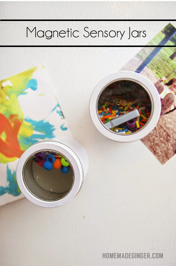 DIY magnetic sensory jars (via www.homemadeginger.com)
