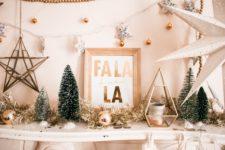DIY Fa-La-La Christmas artwork