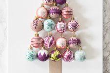 DIY Christmas ornament tree art