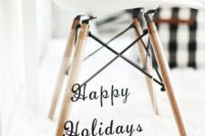 DIY minimalist Christmas artwork on acryl