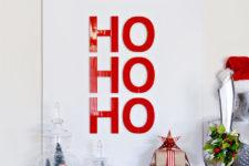 DIY Ho Ho Ho artwork