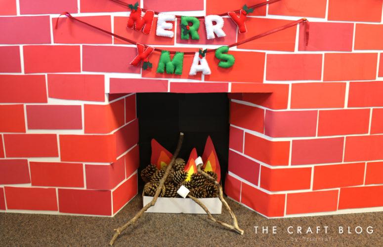DIY Christmas felt letter garland (via www.thecraftblog.com)