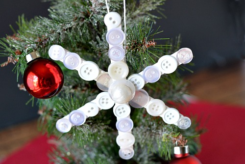 diy popsicle stick christmas snowflake ornament via acultivatednestcom - Cute Diy Christmas Decorations