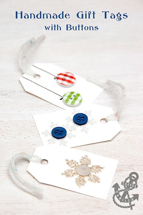 DIY button gift tags (via www.coffeeandvanilla.com)