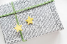 DIY felt star gift toppers