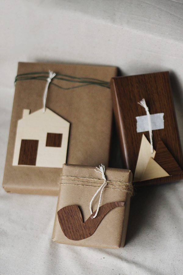 DIY plywood gift toppers