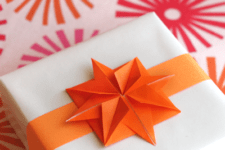 DIY origami paper star gift toppers