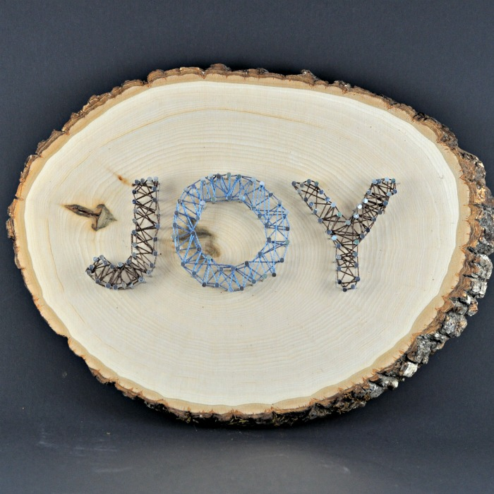 DIY JOY string art for Christmas (via www.suburble.com)