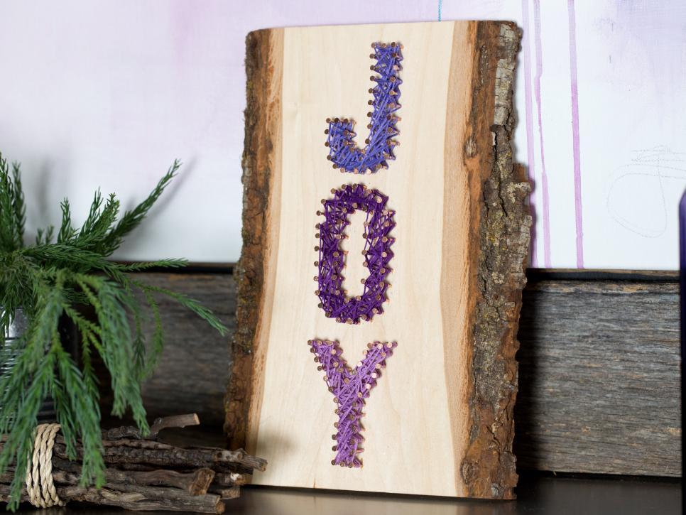 DIY rustic JOY string art