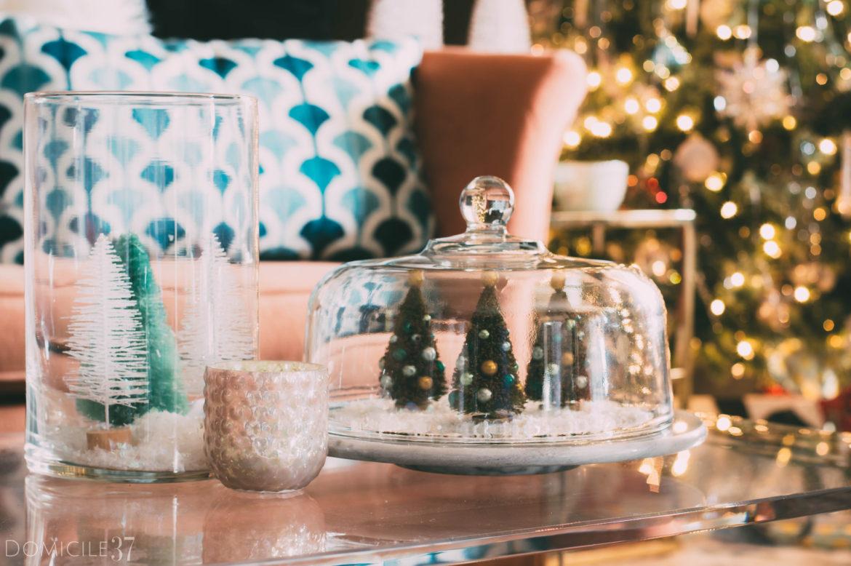 DIY vintage style Christmas terrarium