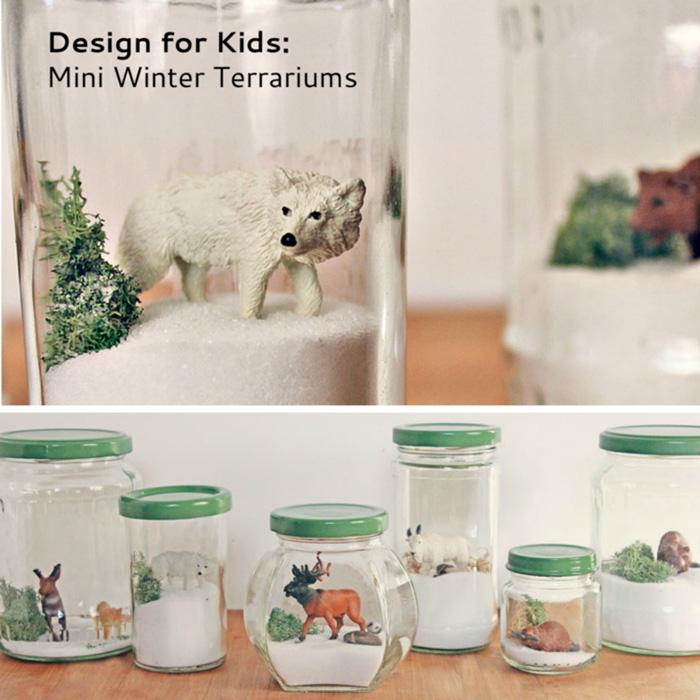DIY mini jar terrariums