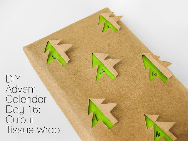 DIY gift wrapping paper with 3D trees (via cafecraftea.blogspot.ru)