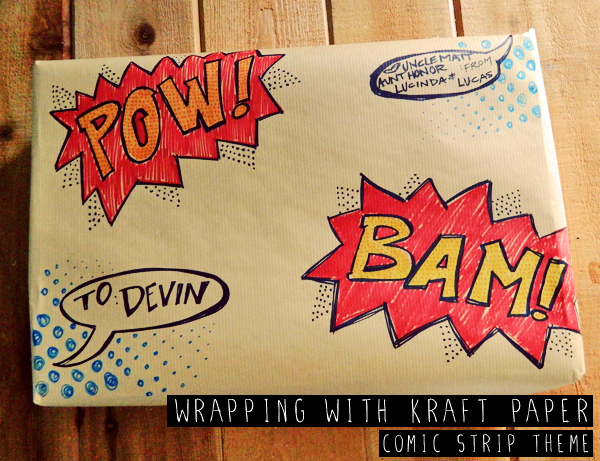 DIY comics wrapping paper (via www.homeheartcraft.com)