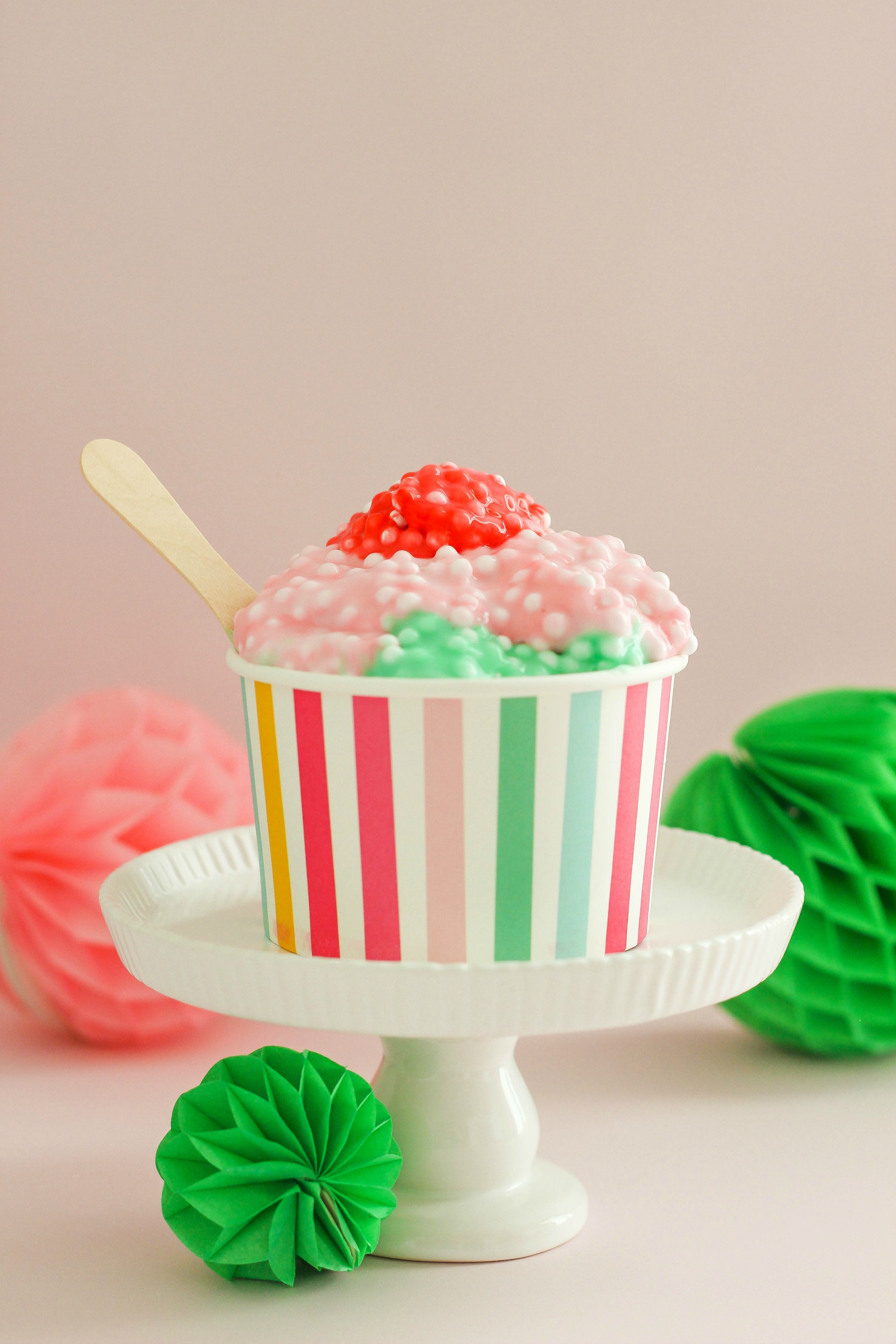 DIY ice cream sundae slime