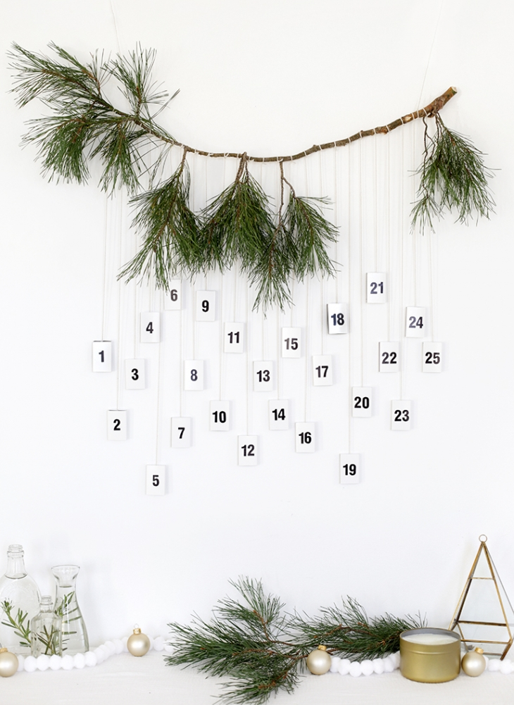 DIY modern matchbox advent calendar (via themerrythought.com)