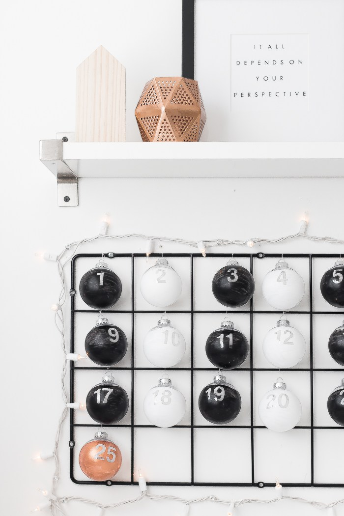 DIY IKEA hack advent calendar (via www.thebeautydojo.com)