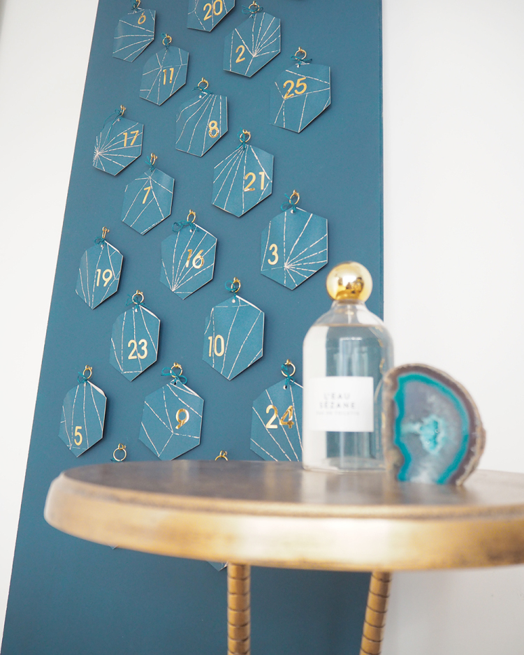 DIY art deco advent calendar