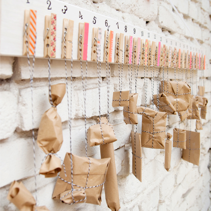 DIY clothespins advent calendar