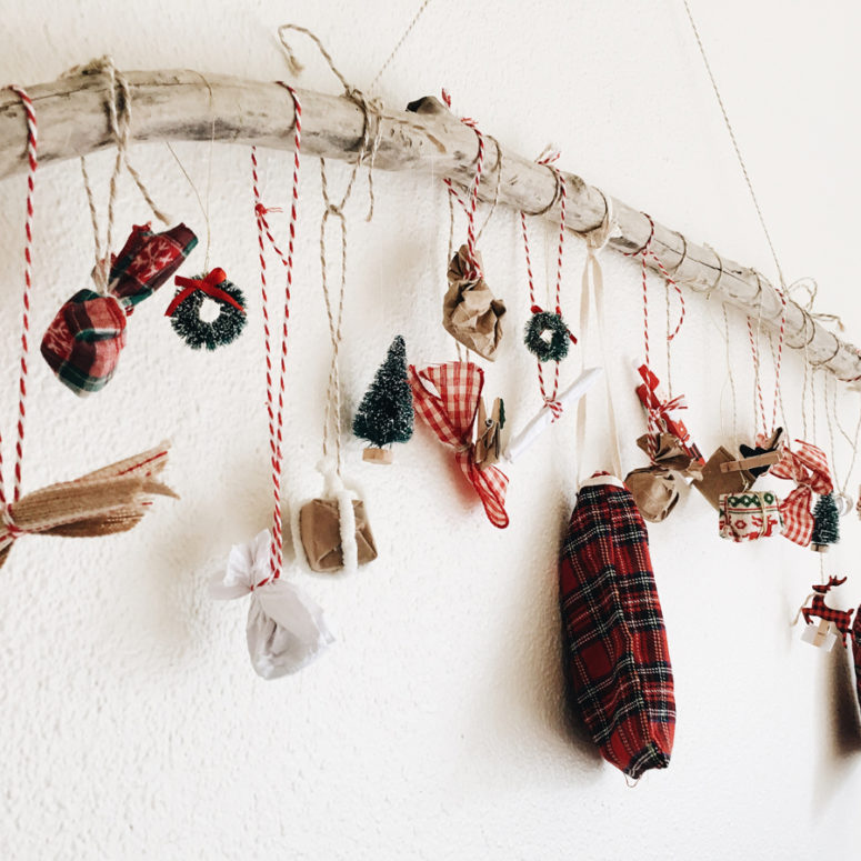 DIY rustic advent calendar (via theanastasiaco.com)