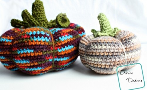 DIY colorful crocheted pumpkins (via www.shelterness.com)