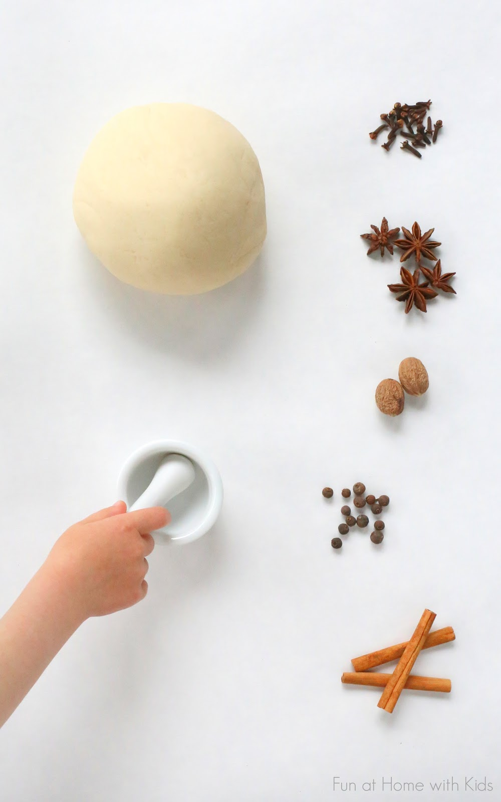 DIY fall spice scented playdough