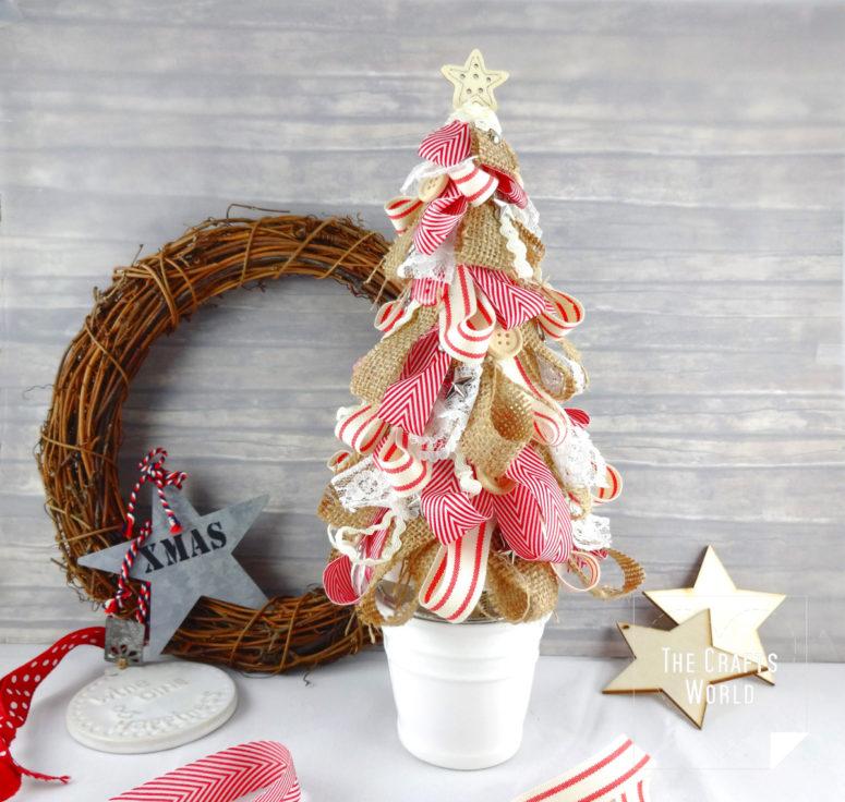 DIY Christmas tree of ribbons (via thecraftsworld.com)