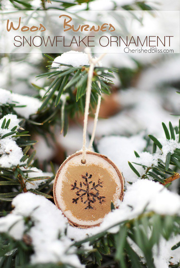 DIY wood burnt ornaments (via cherishedbliss.com)