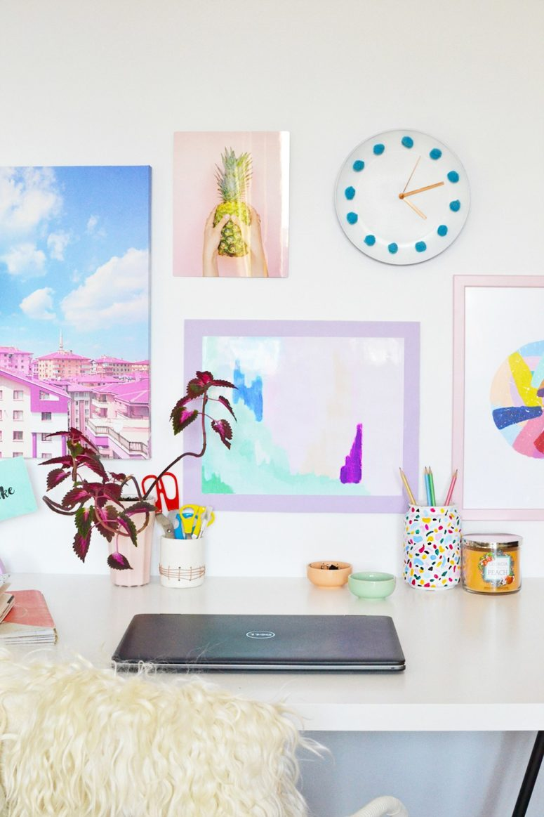 DIY colorful poster frames (via enthrallinggumption.com)