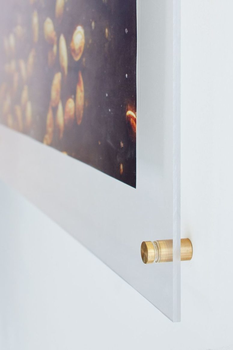 DIY chic floating poster frame (via food52.com)