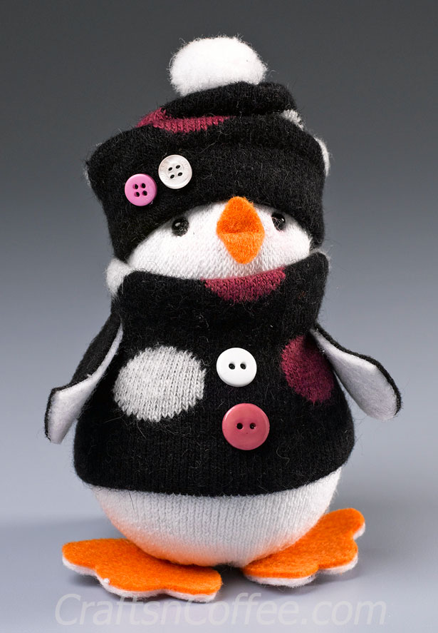 no sew sock penguin craft 12 and diy penguin crafts for winter shelterness 6962