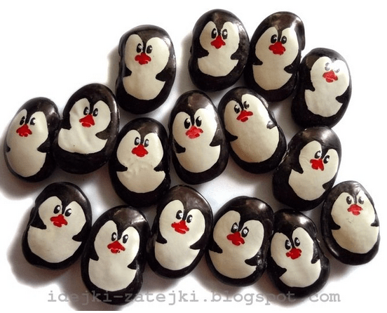 DIY penguins of large beans (via idejki-zatejki.blogspot.ru)