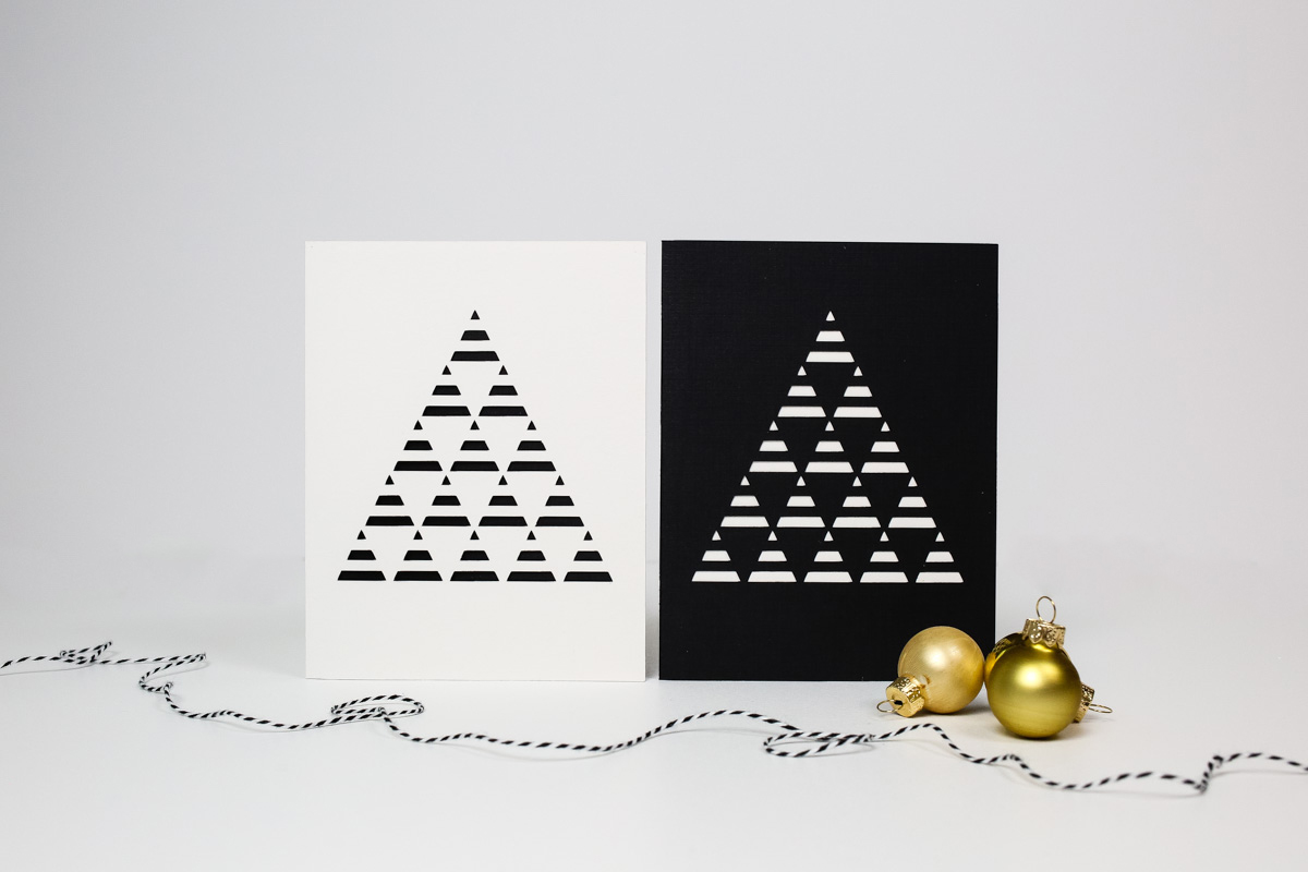 DIY minimalist Christmas tree card