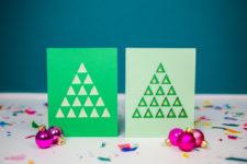 DIY colroful layered Christmas tree card