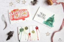 DIY artsy Christmas cards