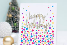 DIY confetti holiday cards