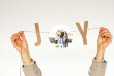 DIY JOY bunting Christmas card