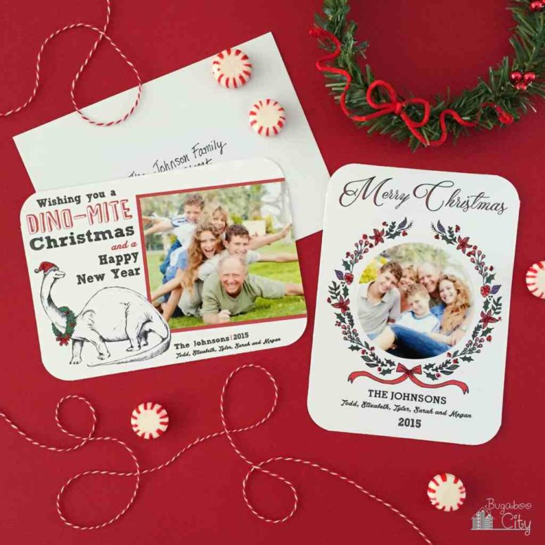 DIY holiday photo cards (via www.bugaboocity.com)