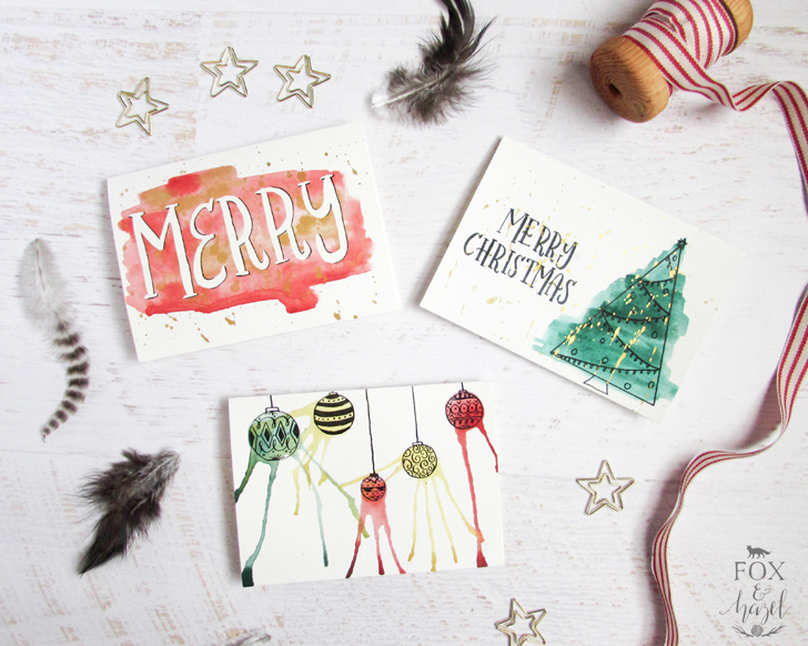 DIY artsy Christmas cards