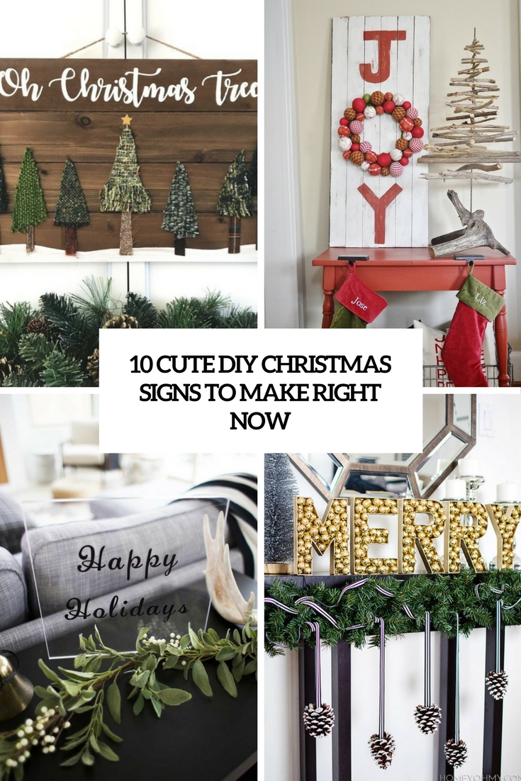 cute diy christmas signs to make right now cove