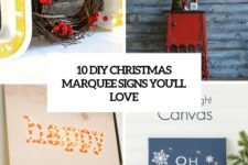 10 diy christmas marquee signs you'll love cover