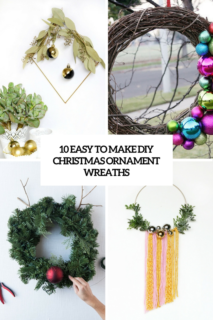 easy to make diy christmas ornament wreaths cover