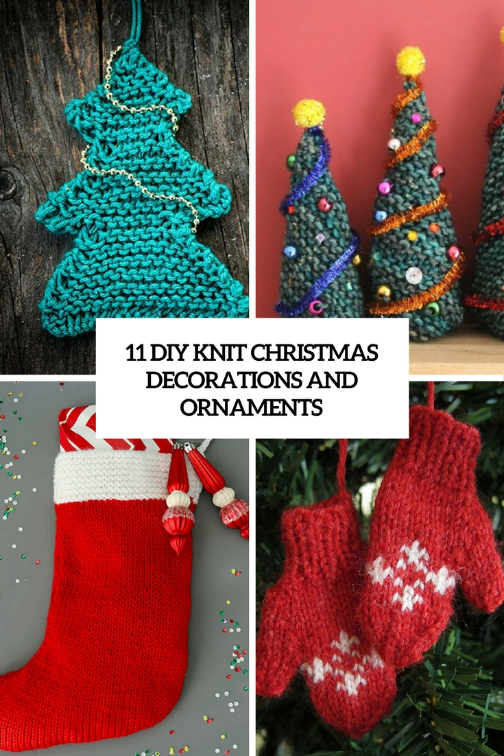 diy knit christmas decorations and ornaments cover