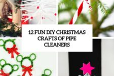 12 fun diy christmas crafts of pipe cleaners cover